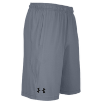 under armour shorts. under armour team pocketed raid shorts - men\u0027s grey /