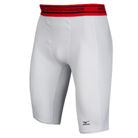 Mizuno Compression Shorts - Men's - White / Red
