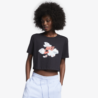 Nike Air Max Logo Crop T-Shirt - Women's - Black