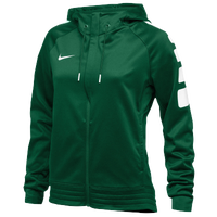 Nike Team Elite Stripe Hoodie - Women's - Dark Green / White
