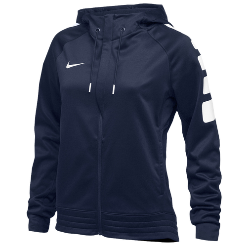 Nike Team Elite Stripe Hoodie - Women's For All Sports - Navy/White 5385420