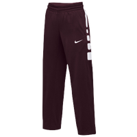 Nike Team Elite Stripe Pants - Women's - Maroon / White