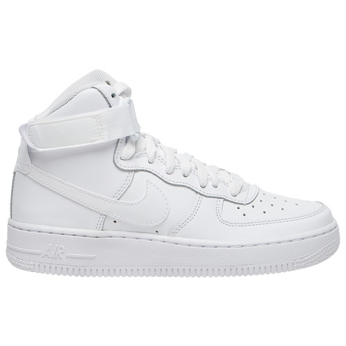 Nike Air Force 1 High - Boys' Grade School - Casual - Shoes -  White/White/White
