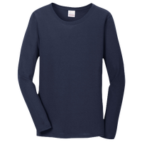 Gildan Team Heavy Cotton 5.3oz. L/S T-Shirt - Women's - Navy / Navy