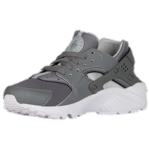 Nike Huarache Run - Boys' Grade School - Casual - Shoes - Cool Grey/Cool  Grey/Wolf Grey/White