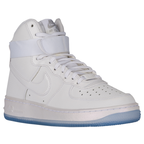 Nike Air Force 1 High - Women's Casual - White/White/Matte Silver/Blue Tint 54440105