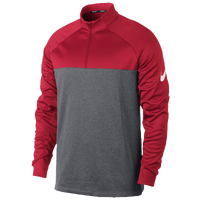 Nike Therma Fit 1/2 Zip Cover Up - Men's - Red / Grey