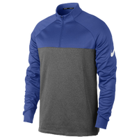 Nike Therma Fit 1/2 Zip Cover Up - Men's - Blue / Grey