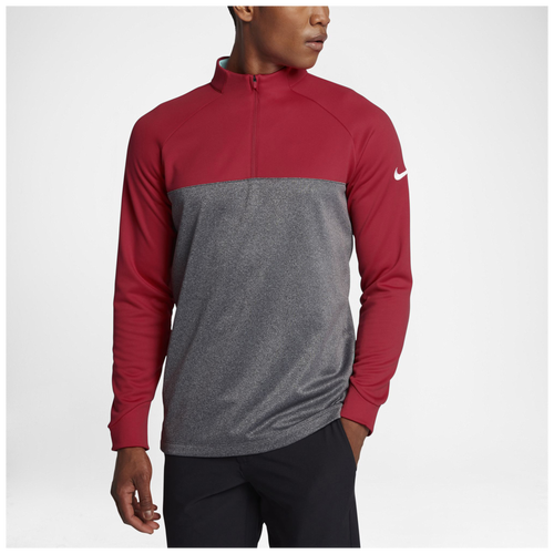 Nike Therma Fit 1/2 Zip Cover Up - Men's Golf - University Red/Dark Grey/Heather/White 54498657
