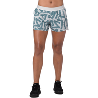 "ASICS® 3.5"" Woven Shorts - Women's - White / Grey"
