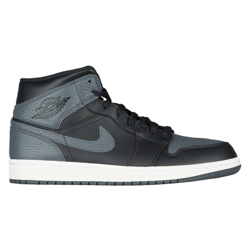 Jordan AJ 1 Mid - Men's - Basketball - Shoes - Black/Dark Grey/Summit White