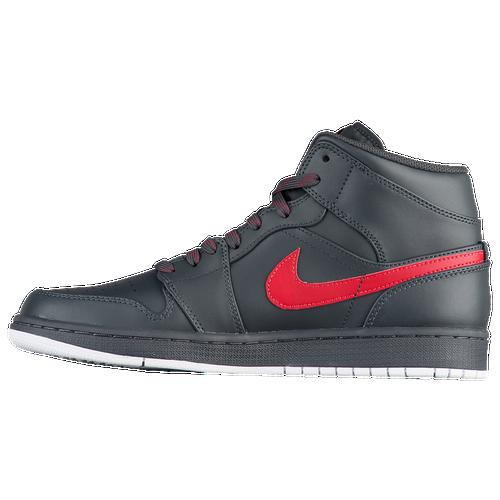 Air Jordan 1 Negro Fresco Mediados Alegría / Gris / Rojo venta barata mejor comprar moda barata barato en línea descuento obtener auténtica buscando en línea QkSwEw