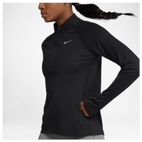 Nike Dry Core 1/2 Zip - Women's - All Black / Black