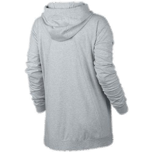 Nike Gym Classic Full Zip Hoodie - Women's Casual - Birch Heather/Sail 54961051