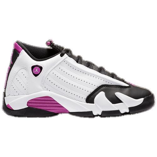 0669de3177f ... where can i buy jordan retro 14 girls grade school basketball shoes  white fuchsia blast black