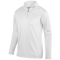 Augusta Sportswear Team Wicking Fleece Pullover - Men's - All White / White