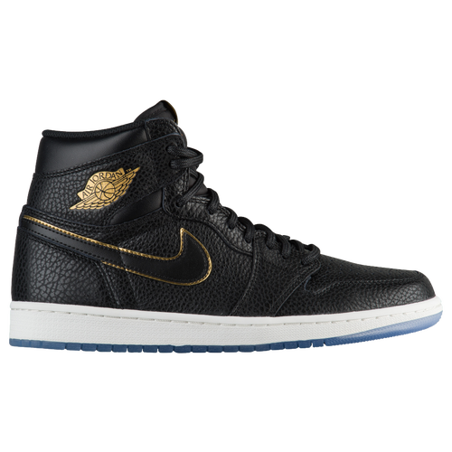 Jordan Retro 1 High OG - Men's - Black / Gold