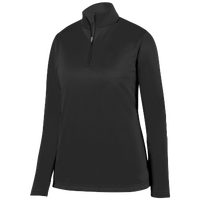 Augusta Sportswear Team Wicking Fleece Pullover - Women's - All Black / Black