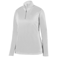 Augusta Sportswear Team Wicking Fleece Pullover - Women's - All White / White