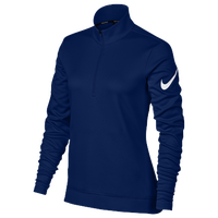 Nike Thermal 1/2 Zip Cover Up - Women's - Navy / White