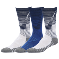 Nike 3 Pack Dri-FIT Max Crew GFX Socks - Men's - White / Navy