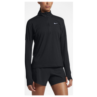 Nike Dri-FIT Element 1/2 Zip - Women's - All Black / Black