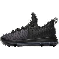 Nike KD 9 - Boys\u0027 Grade School - Kevin Durant - Black / Grey
