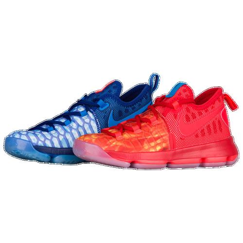 best website 9a126 2dac2 Nike KD 9 Boys Preschool Basketball Shoes Kevin Durant Deep Royal Blue  Photo Blue University Red delicate