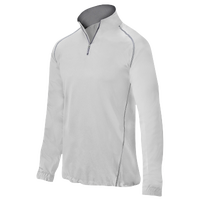 Mizuno Compression 1/4 Zip L/S Batting Jacket - Men's - White / Grey