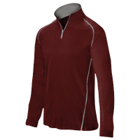 Mizuno Compression 1/4 Zip L/S Batting Jacket - Men's - Cardinal / Cardinal