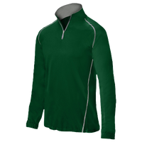 Mizuno Compression 1/4 Zip L/S Batting Jacket - Men's - Dark Green / Dark Green
