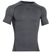 Under Armour HeatGear Armour Compression S/S Shirt - Men's - Grey / Black