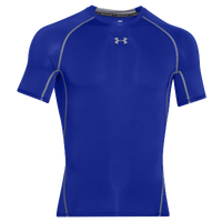 Under Armour HeatGear Armour Compression S/S Shirt - Men's - Blue / Grey