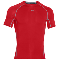 Under Armour HeatGear Armour Compression S/S Shirt - Men's - Red / Grey