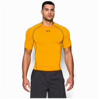 Under Armour HeatGear Armour Compression S/S Shirt - Men's - Gold / Black