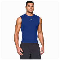 Under Armour HeatGear Armour Compression S/L Shirt - Men's - Blue / Blue
