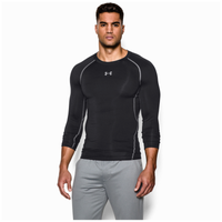 Under Armour HeatGear Armour Comp L/S T-Shirt - Men's - Black / Grey