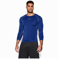 Under Armour HeatGear Armour Comp L/S T-Shirt - Men's - Blue / Grey