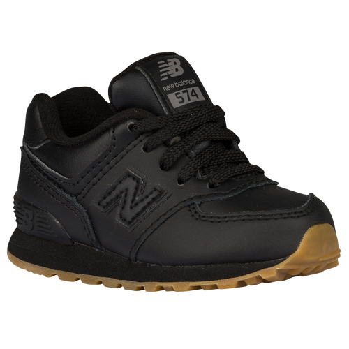 New Balance 574 - Boys' Toddler - Casual - Shoes - Black/Gum/Leather  Collection