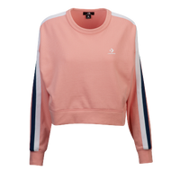 Converse Star Chevron Cropped Crew - Women's - Pink / White
