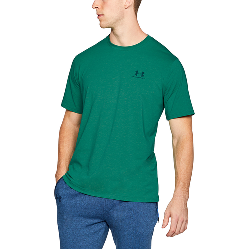 Under Armour Sportstyle Left Chest Logo T-Shirt - Men's Casual - Course Green/Arena Green/Tourmaline Teal 57616619