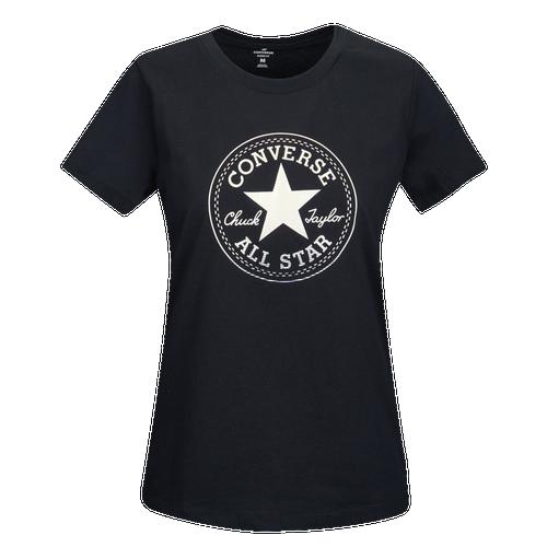 Converse Foil Gradient Crew T-Shirt - Women's Casual - Black 5792A02