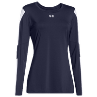 Under Armour Team Block Party L/S Jersey - Women's - Navy / White