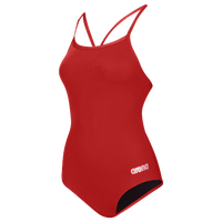 Arena Master Thin Strap Racerback Swimsuit - Women's - Red / Silver