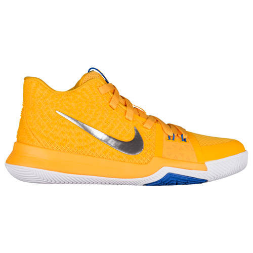Nike Kyrie 3 - Boys' Grade School - Basketball - Shoes - Kyrie Irving - Uni  Gold/Chrome/White/Game Royal