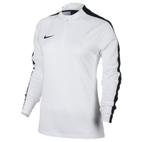 Nike Academy 1/2 Zip Top - Women's - White / Black