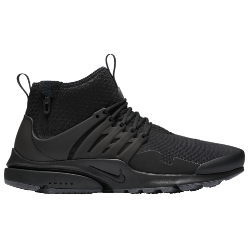 Nike Air Presto Mid Utility - Men's - Casual - Shoes - Black/Black/Dark Grey