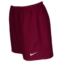 Nike Team Laser Woven Shorts - Women's - Maroon / White