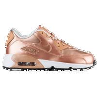 Nike Air Max 90 - Girls' Toddler - Gold / White