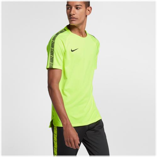 Nike Breathe Squad Short Sleeve Top - Men's Soccer - Volt/Black 59850703
